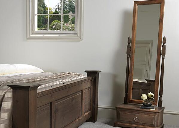 freestanding mirror with drawer