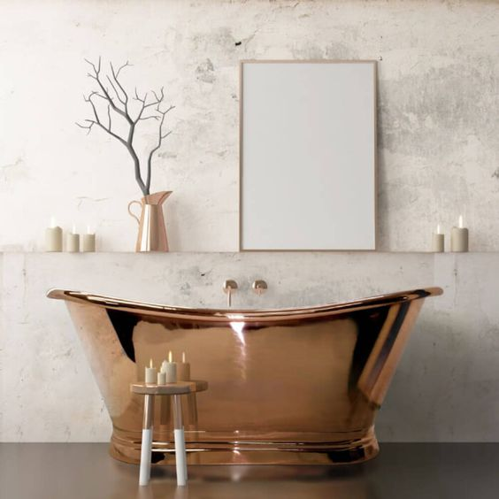 copper roll top bath