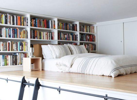 stylish studio loft bedroom