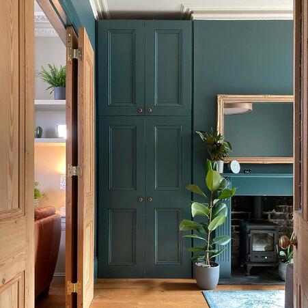 green on oak furniture