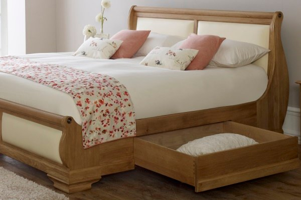 Amalfi Sleigh Bed with Storage