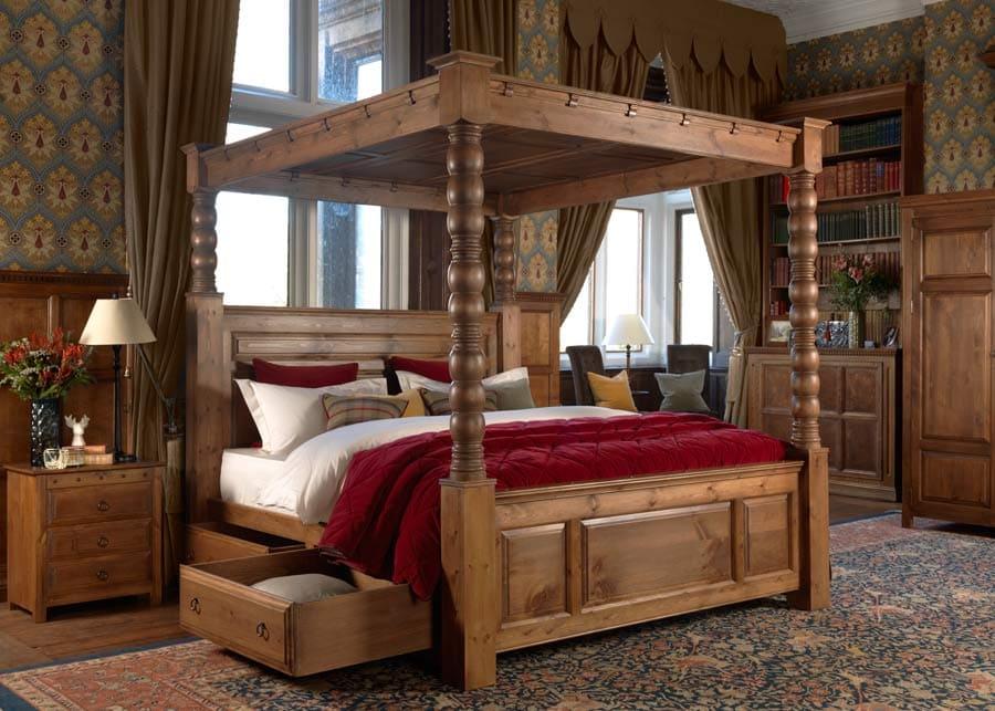 Ambassador-Solid-Wood-Four-Poster-Bed-1
