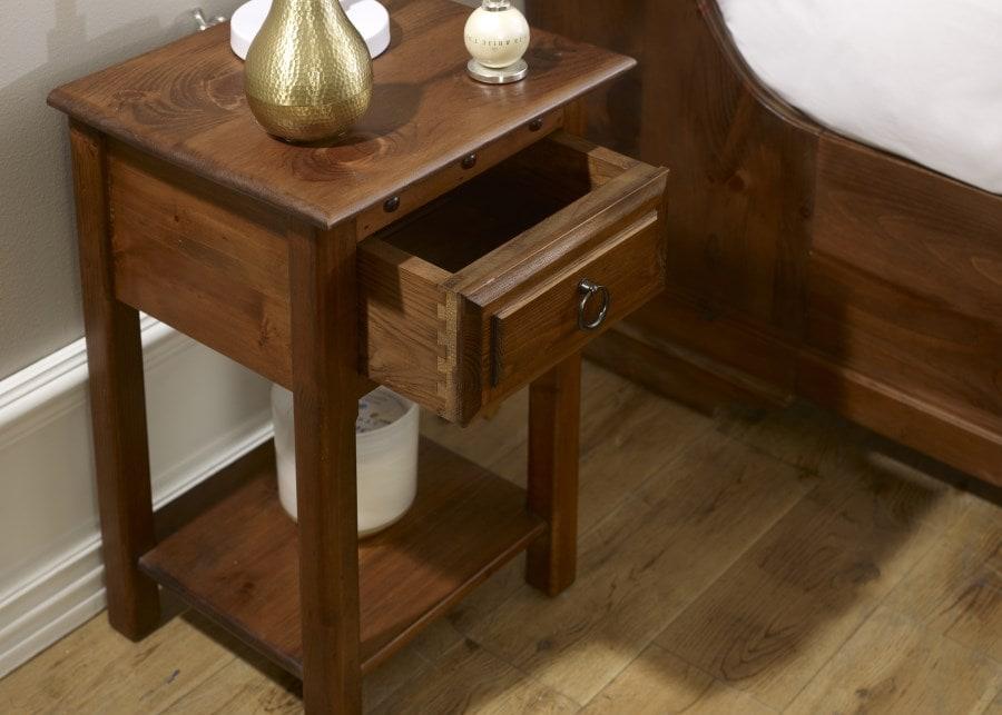 hardwood bedside table