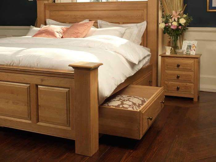 underbed storage and bedside cabinet