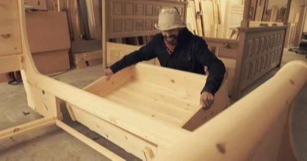 Craftsman Making Bespoke Sleigh Bed-1-2-1