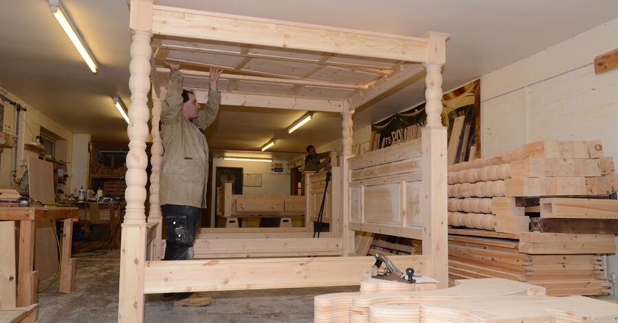 handcrafted hardwood beds