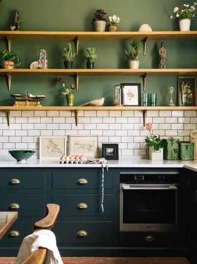 tiles in an oak kitchen