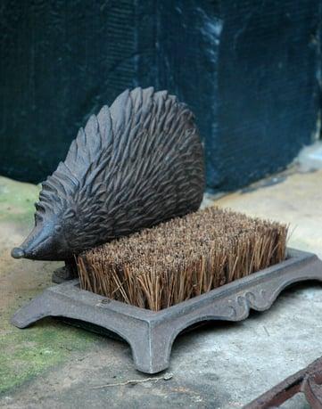 Cast iron hedgehog boot brush