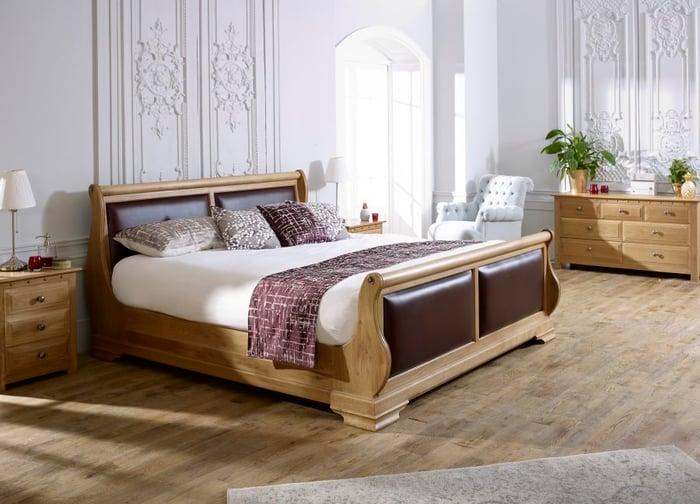 tuscany sleigh bed