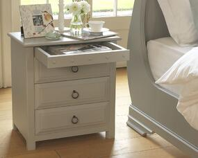 Painted Wooden Bedside Cabinet