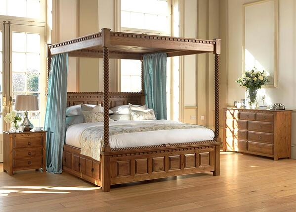 County Kerry Solid Wood Four Poster Bed