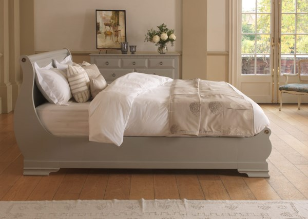 French Sleigh Bed in a Painted Finish