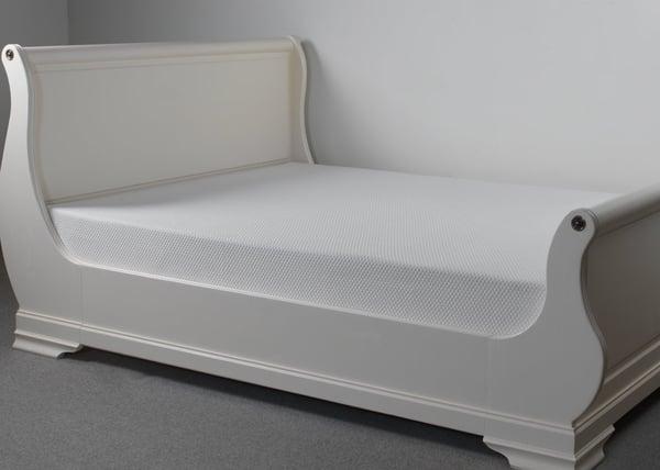 Memory Foam Mattress on Sleigh Bed