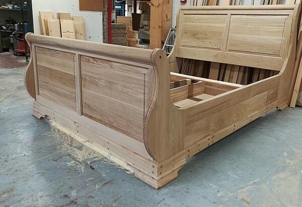 Bespoke Solid Wood Sleigh Bed