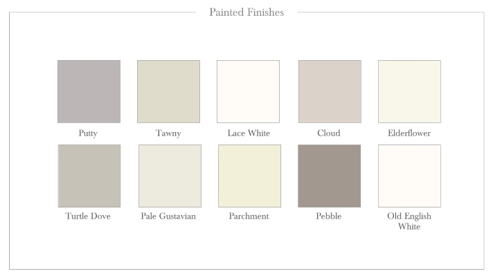 Painted Sample Finishes