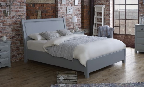 KIng-size Painted Wooden Bed
