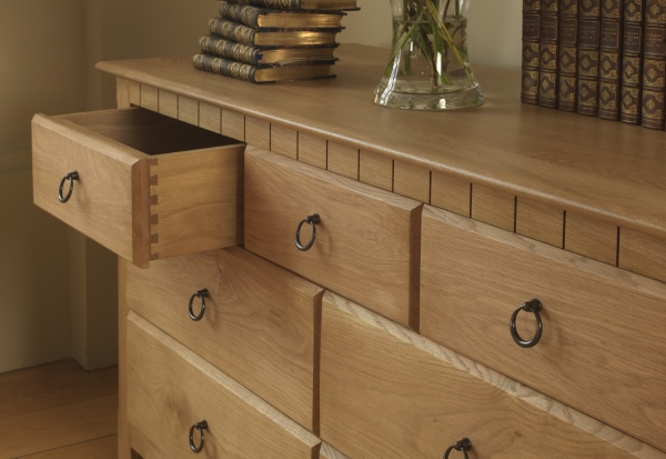 hardwood chest of drawers