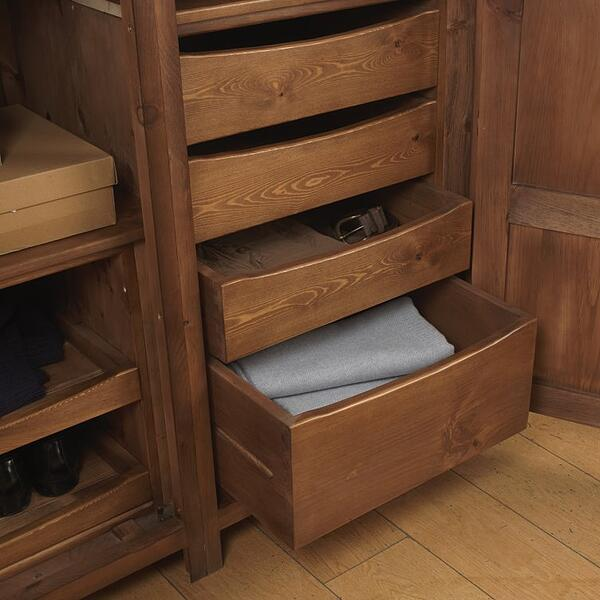 wooden wardrobe drawers