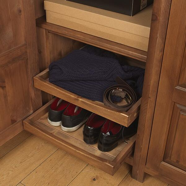 wooden wardrobe shoe tray