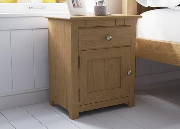 revival shaker bedside cabinet