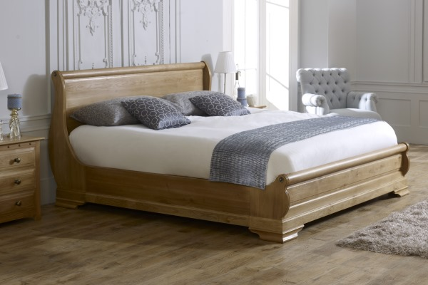 Oak Sleigh Bed