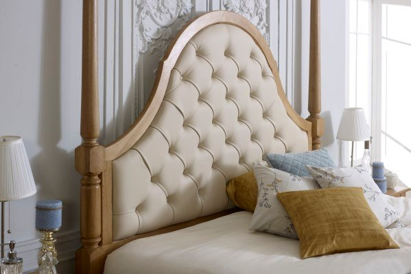 Quebec Pencil Bed Leather Headboard