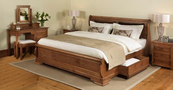 revival bed in showroom