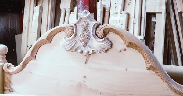 sustainable hardwood headboard