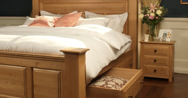 Solid Oak Bed from revival beds