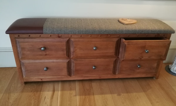 Wooden Blanket Box with Drawers