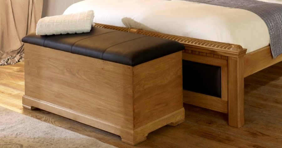 custom wooden ottomans