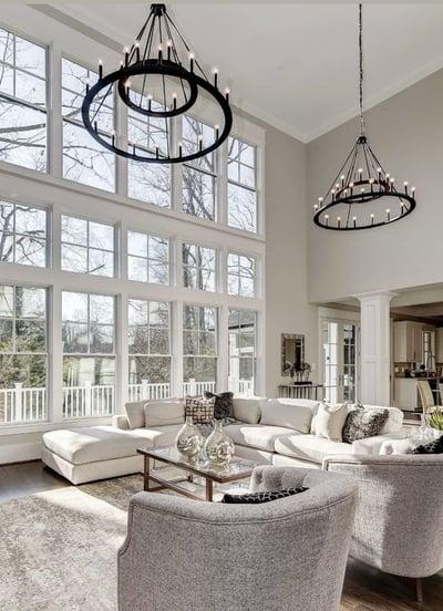 atmospheric white wall elegant living room