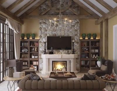 dramatic elegant living room idea