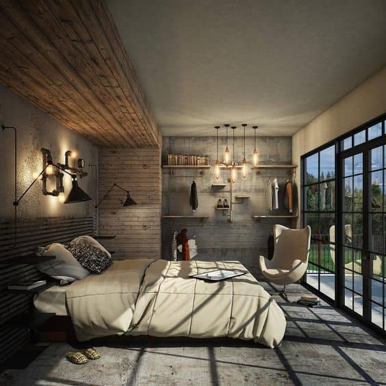 post industrial bedroom