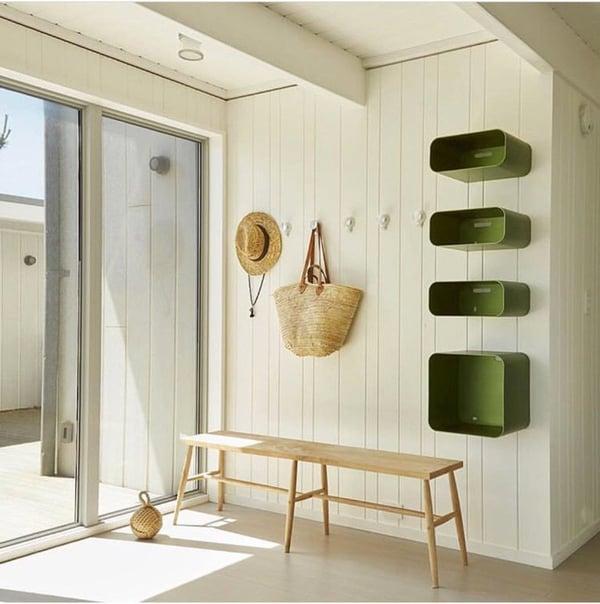beach hut style hallway