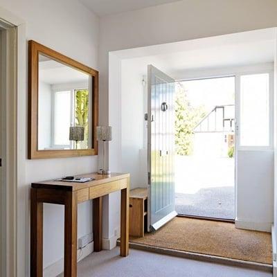 built-in doormat hallway