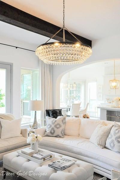 lighting in elegant living room