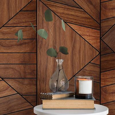 modernised wooden half wall panel in home