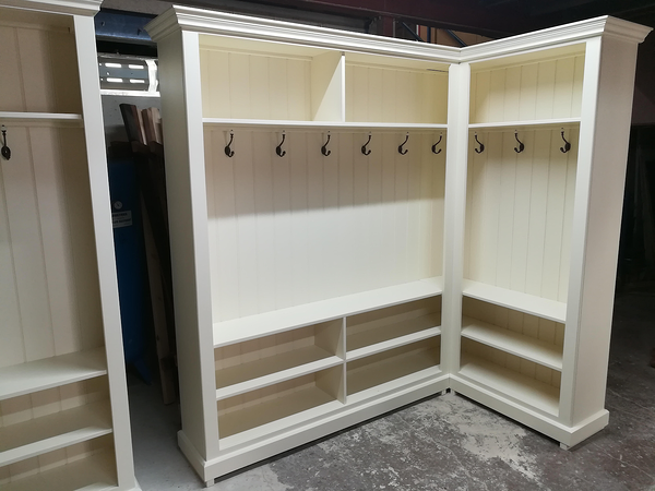 bespoke cloakroom wardrobe with coat hooks