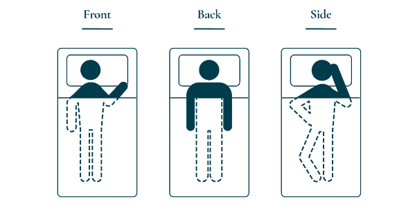 different sleeping positions revival beds