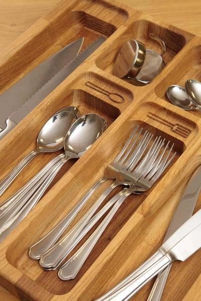 oak cutlery draw insert